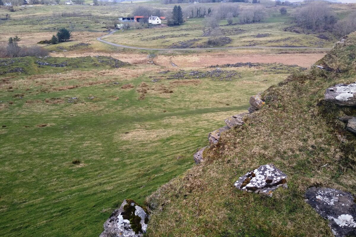 Balure road from the broch