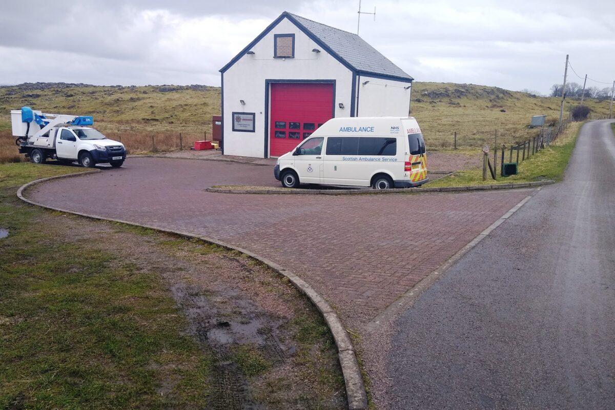 Fire Station and ambulance